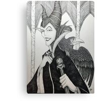 Maleficent - Pen and Ink Canvas Print