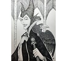 Maleficent - Pen and Ink Photographic Print