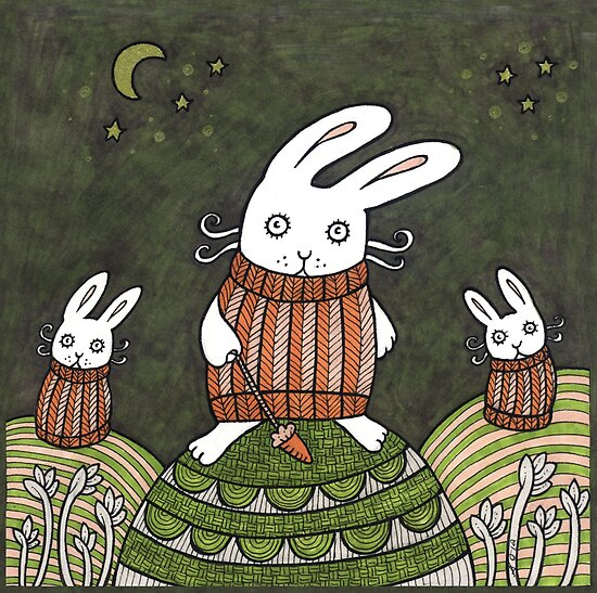 Cozy Bunnies by Anita Inverarity