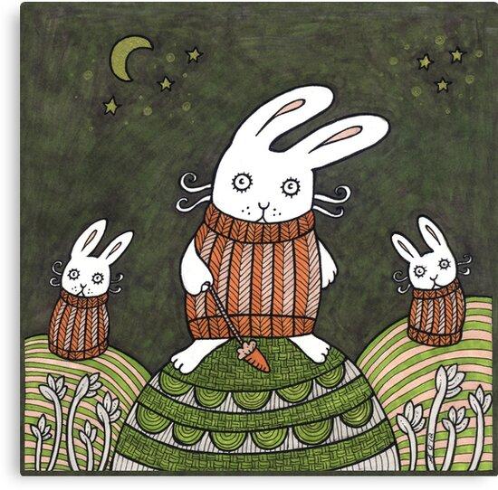 Cozy Bunnies by Anita Inverarity