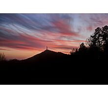 Currahee Mountain Sunset Photographic Print