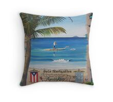 Ernie Alvarez Solo Circumnavigation, Puerto Rico Throw Pillow