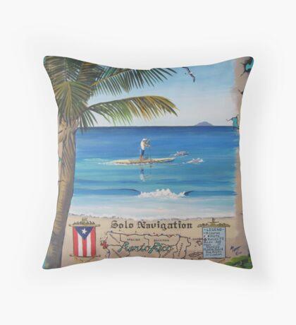 Ernie Alvarez Solo Circumnavigation, Puerto Rico Throw Pillow