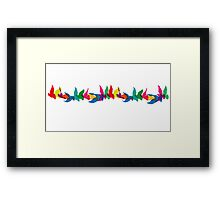A Colorful Flight of Fancy Framed Print