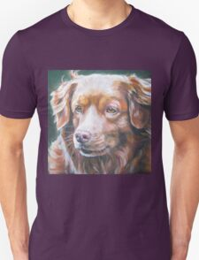 Nova Scotia Duck Tolling Retriever Fine Art Painting Unisex T-Shirt