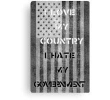 Love & Hate  Canvas Print