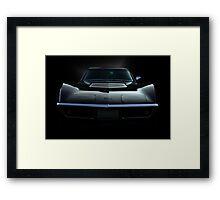 Black Stingray Framed Print
