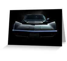 Black Stingray Greeting Card