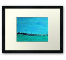 ocean meets sky Framed Print