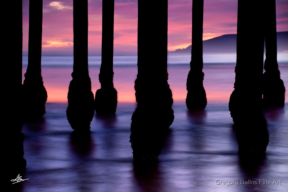 Purple Sunset at Pismo Beach by Gregory Ballos | gregoryballosphoto.com