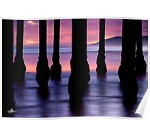 Purple Sunset at Pismo Beach Poster