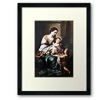 Playful jesus Framed Print