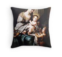 Playful jesus Throw Pillow