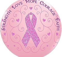 Breast Cancer Pink Ribbon Of Hope by HavenDesign