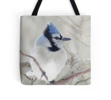 Blue Jay Profile Tote Bag