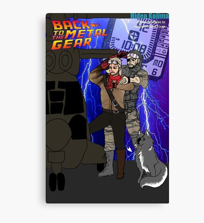 Back to the Metal Gear Canvas Print
