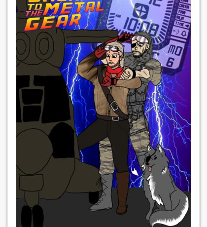Back to the Metal Gear Sticker