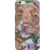 Nova Scotia Duck Tolling Retriever Fine Art Painting iPhone Case/Skin