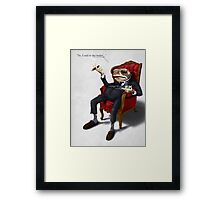 Fly in my soup! Framed Print