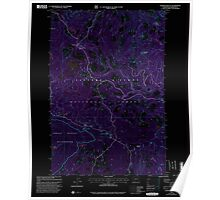 USGS Topo Map Washington State WA Sleeping Beauty 243780 1998 24000 Inverted Poster