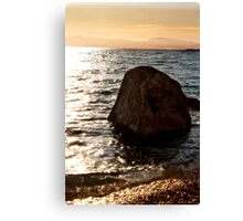Sunset on the Rocks Canvas Print