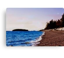 Walk Along the Beach Canvas Print