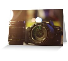 Photography in a picture Greeting Card