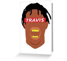 Minimal Travi$ Greeting Card