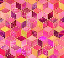 Pink Cubes by Elisabeth Fredriksson