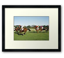Horse Racing, Germany, 1980s. Framed Print