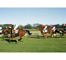 Horse Racing, Germany, 1980s. Photographic Print