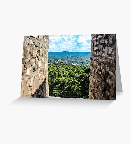 looking out through the ruins Greeting Card