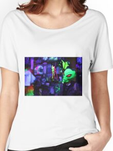 alien abduction glowing photo Women's Relaxed Fit T-Shirt