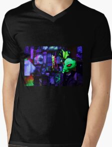 alien abduction glowing photo Mens V-Neck T-Shirt