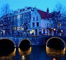 Dusk in Amsterdam by Valerie Rosen
