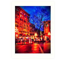 Gastown At Christmas Time Art Print