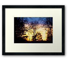 Layers Of A Sunset Framed Print