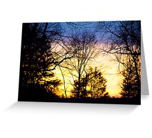 Layers Of A Sunset Greeting Card