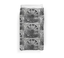 Wagon Wheel - Ouray Museum Duvet Cover