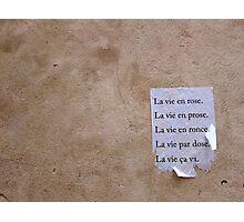 c'est la vie Photographic Print
