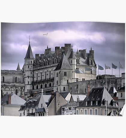 The Chateau late in the day. Poster