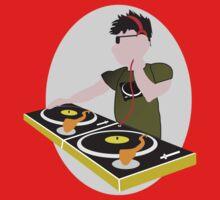 Cartoon DJ on Decks by its-mr-towel