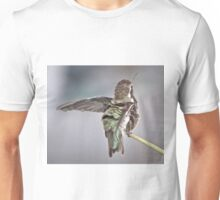 BLACK-CHINNED FUZZY ANNA'S ON REED Unisex T-Shirt