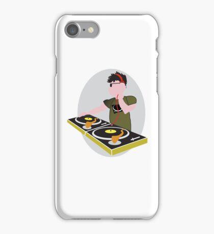 Cartoon DJ on Decks iPhone Case/Skin