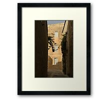The Sunny Side of the Street - Mdina, the Ancient Capital of Malta Framed Print