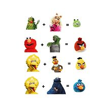 Angry Birds family tree by Ommik