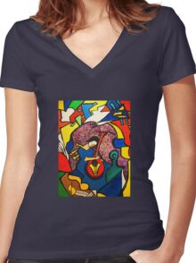 In Paradise  (ORIGINAL SOLD) Women's Fitted V-Neck T-Shirt