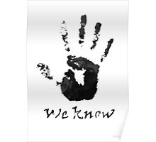 We Know Letter (BLACK AND WHITE) - The Dark Brotherhood Poster
