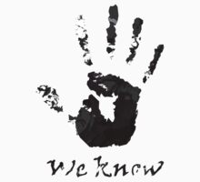 We Know Letter (BLACK AND WHITE) - The Dark Brotherhood by snowcocktail