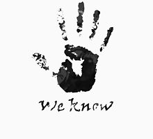 We Know Letter (BLACK AND WHITE) - The Dark Brotherhood Unisex T-Shirt
